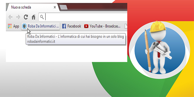 Barra preferiti Google Chrome