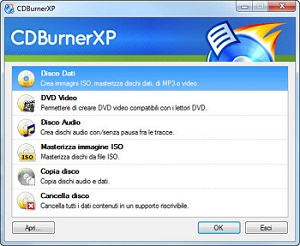 Masterizzare DVD, CD, ISO e fare CD Audio