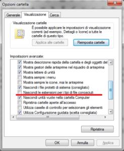 Cambiare estensione file