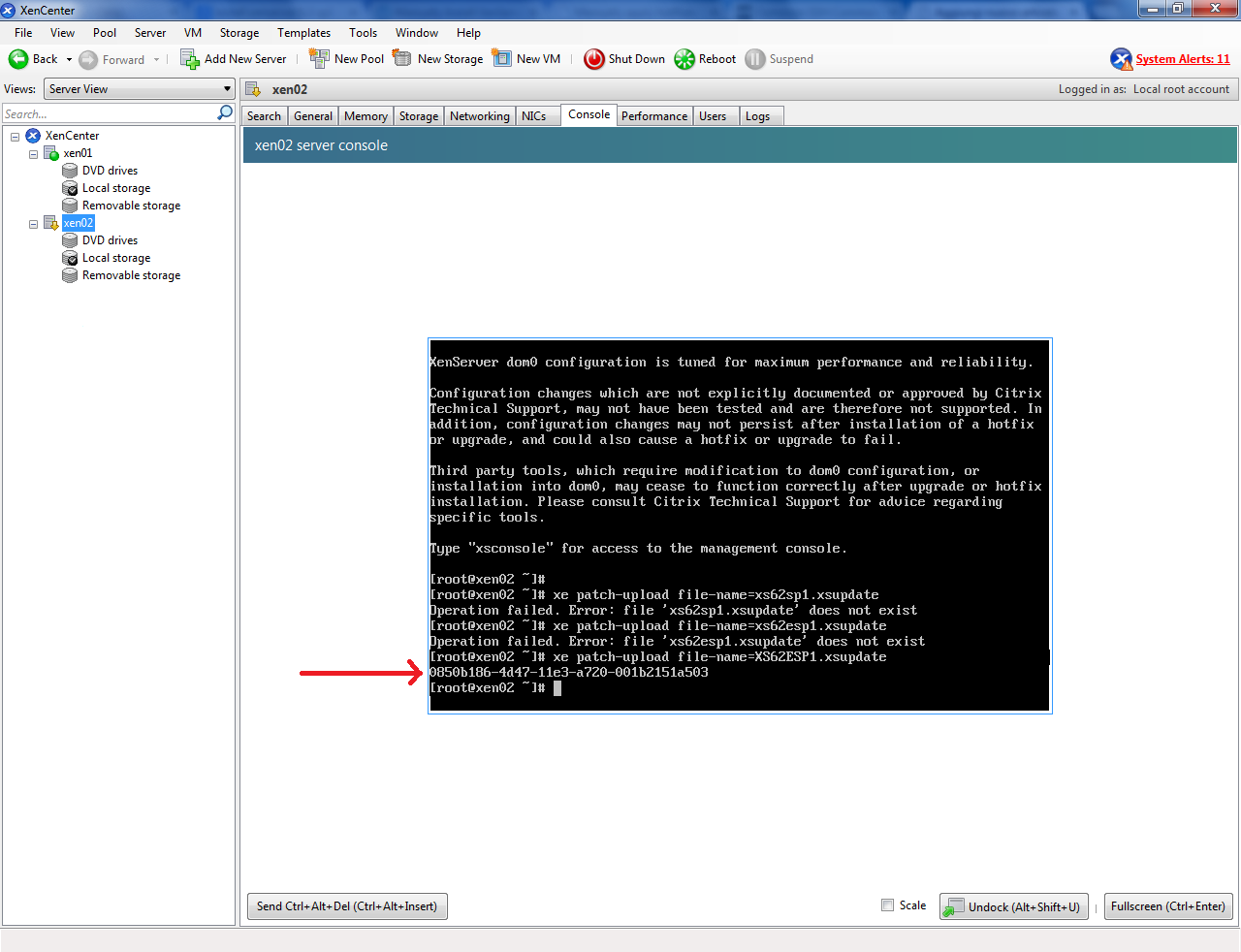 Installare XenServer - UUID