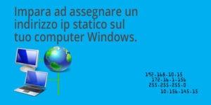 Impostare ip statico