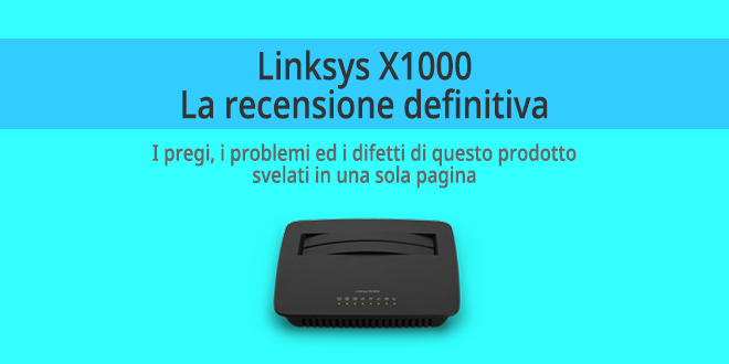 Linksys X1000 - Recensione