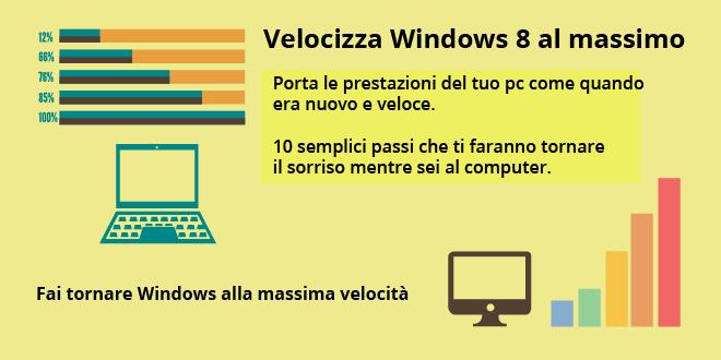 Velocizzare Windows 8 al massimo: la guida definitiva
