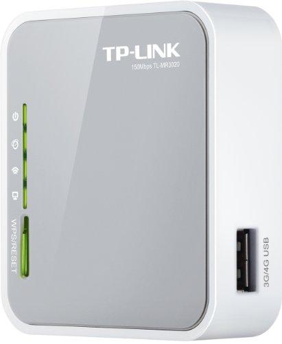 TP-LINK TL-MR3020 parte frontale e porta USB