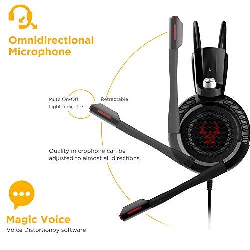 EasyAcc Cuffie Gaming - microfono incorporato