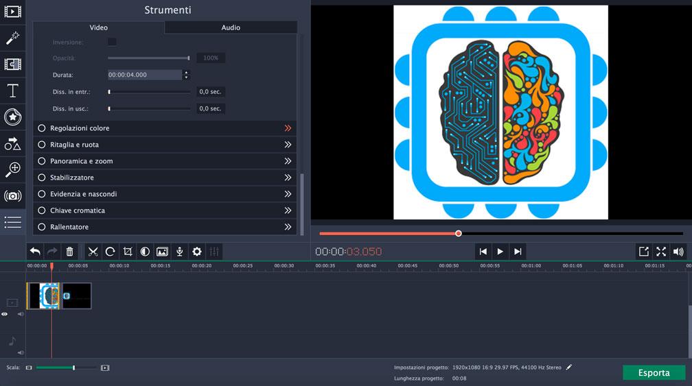 Movavi Video Editor modalità normale modifica video
