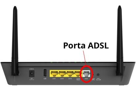 porta adsl del router