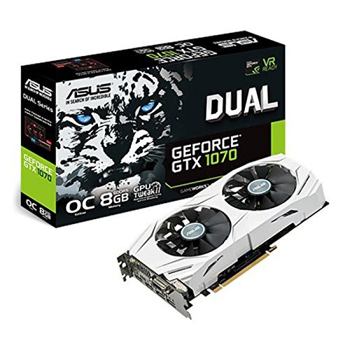 ASUS GeForce GTX 1070 DUAL-GTX1070-08G - scheda e scatola