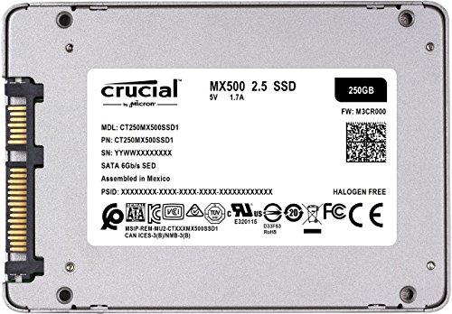 SSD Crucial MX500 - rear