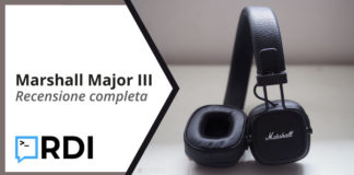 Marshall Major III: Cuffie Bluetooth - Recensione completa