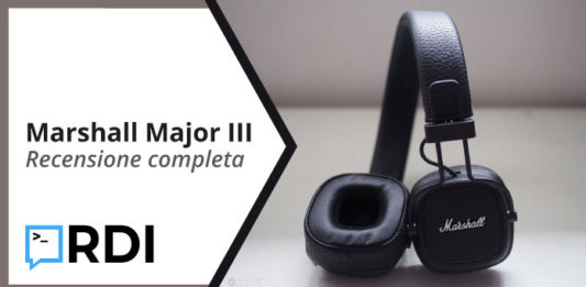 Marshall Major III: Cuffie Bluetooth - Recensione completa