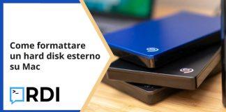 Come formattare un hard disk esterno su Mac