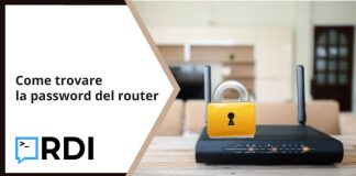 Come trovare la password del router
