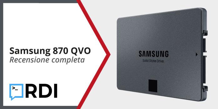 SSD Samsung 870 QVO - Recensione completa