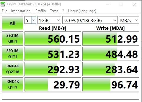 Transcend SSD220Q CrystalMark1