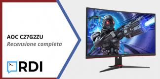 AOC C27G2ZU Gaming Monitor - Recensione completa